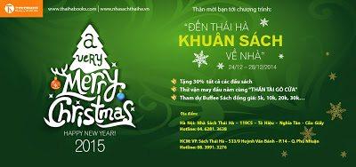 """Chào đón Noel và năm mới 2015: """"Đến Thái Hà khuân sách về nhà"""""""