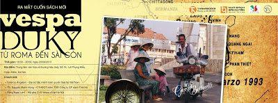 """18:00 – 20:30 (20/09/2013) Ra mắt cuốn sách mới """"Vespa du ký – từ Roma đến Sài Gòn"""""""