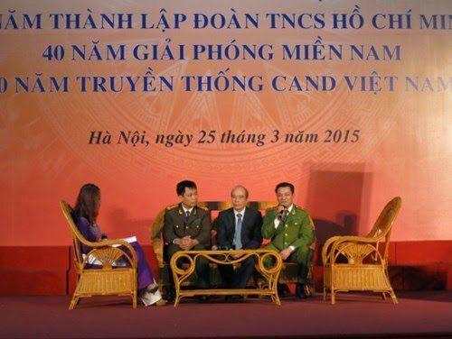 TS Nguyễn Mạnh Hùng giao lưu tại Học viện cảnh sát (BỘ CÔNG AN)
