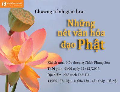 """9:00 ngày 11/12/2015: Chương trình giao lưu """"Những nét văn hóa đạo Phật"""""""