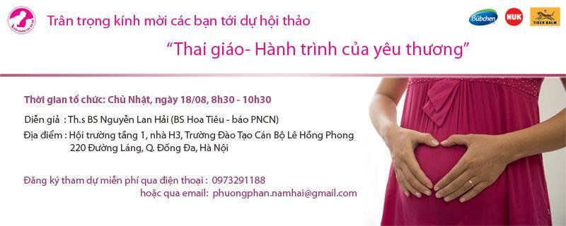 """18/8/2013 tại Hà Nội: Hội thảo """"Thai giáo – hành trình của yêu thương"""""""