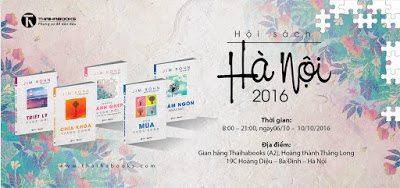 06/10 – 10/10/2016: Thaihabooks tham gia Hội sách Hà Nội 2016