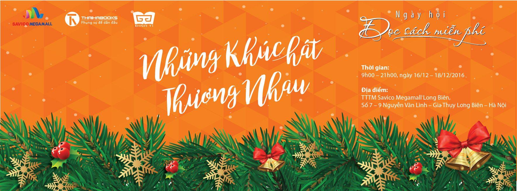 16/12 – 18/12, Ngày hội đọc sách miễn phí tại Savico Megamall Long Biên