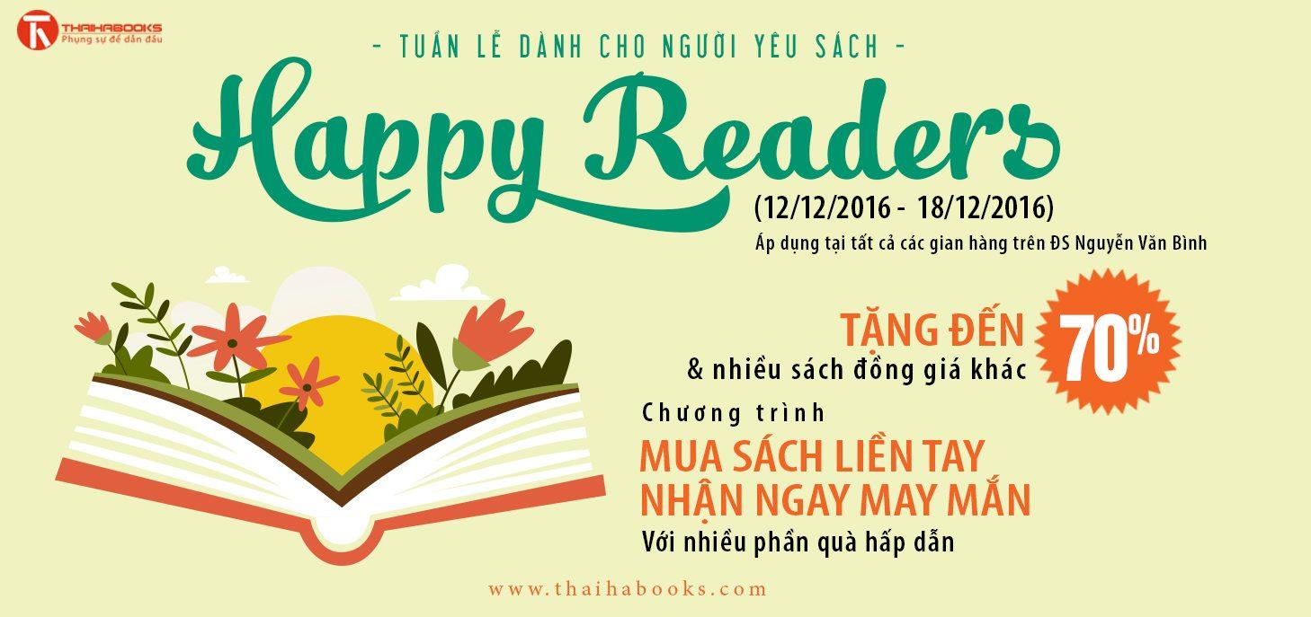"""Tp.HCM: ngày 12/12 – 18/12,  Hoạt động """"Happy Readers"""" – Tuần lễ dành cho người yêu sách tại Đường Sách Tp.HCM"""