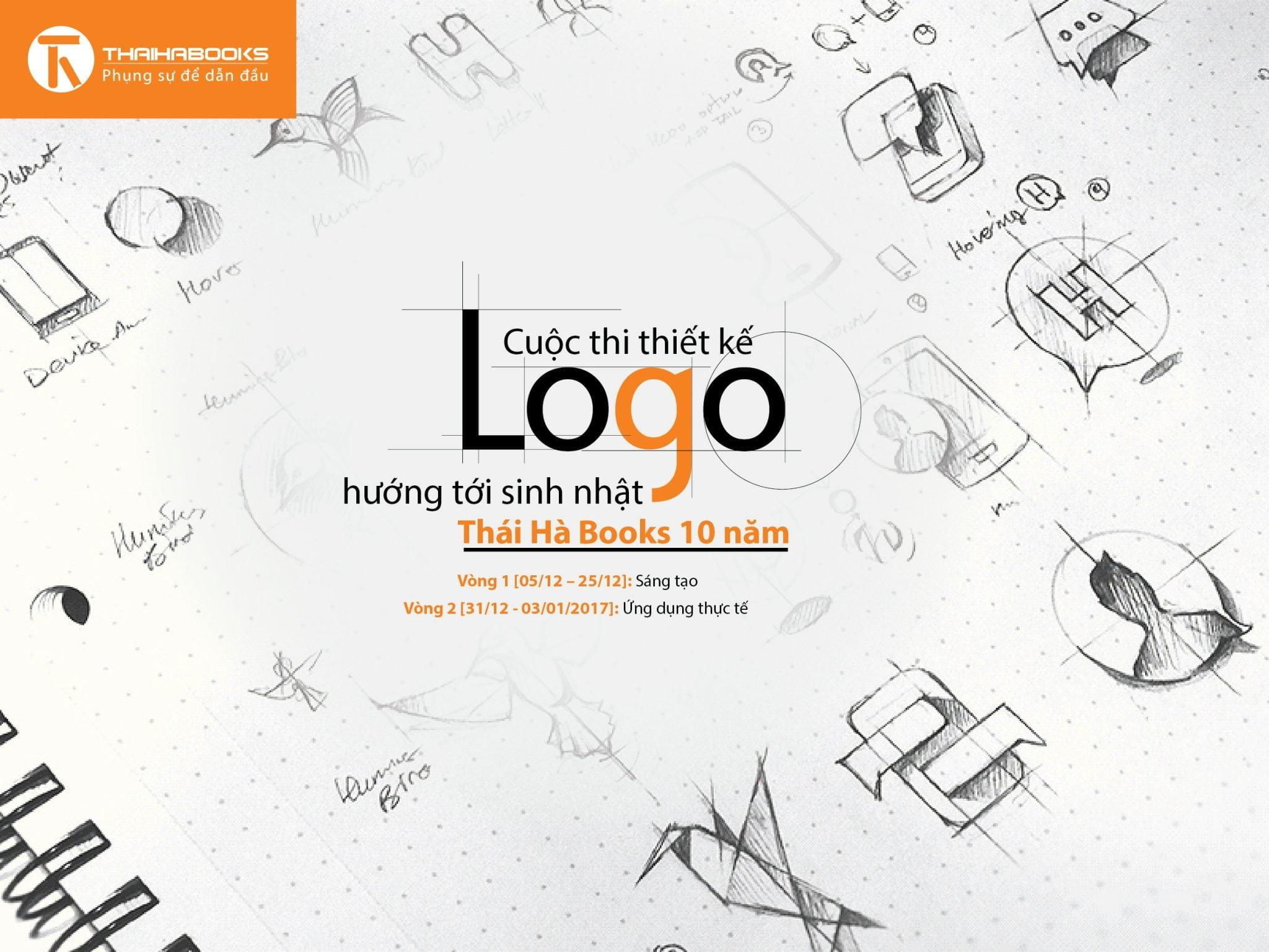 Cuộc thi thiết kế Logo hướng tới sinh nhật 10 năm Thaihabooks