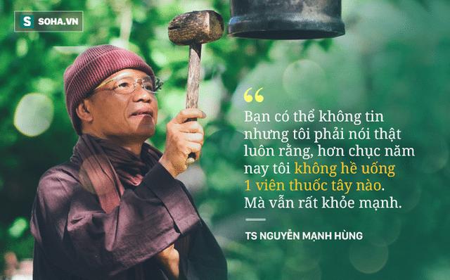 """Cách ăn, ngủ, thở, tập kỳ lạ giúp TS Nguyễn Mạnh Hùng 10 năm """"nói không với thuốc"""": Chữa người bệnh hơn vạn lần chữa bệnh!"""