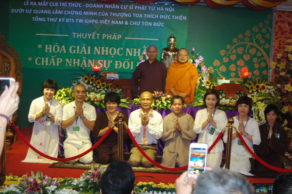Chính thức ra mắt CLB Trí thức Doanh nhân Cư sỹ Phật tử Hà Nội và khóa tu 1 ngày