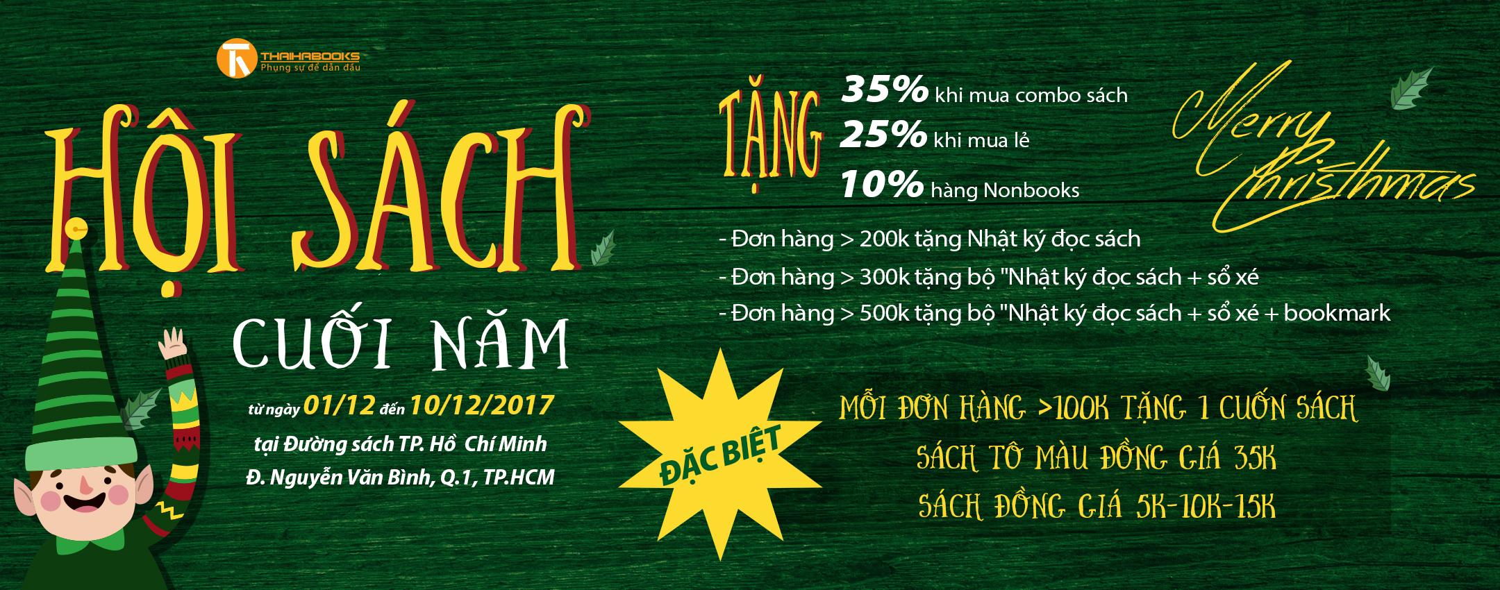 [ThaiHaBooks] Noel này cỡ nào cũng có quà chỉ cần ghé vào hội sách Thái Hà.