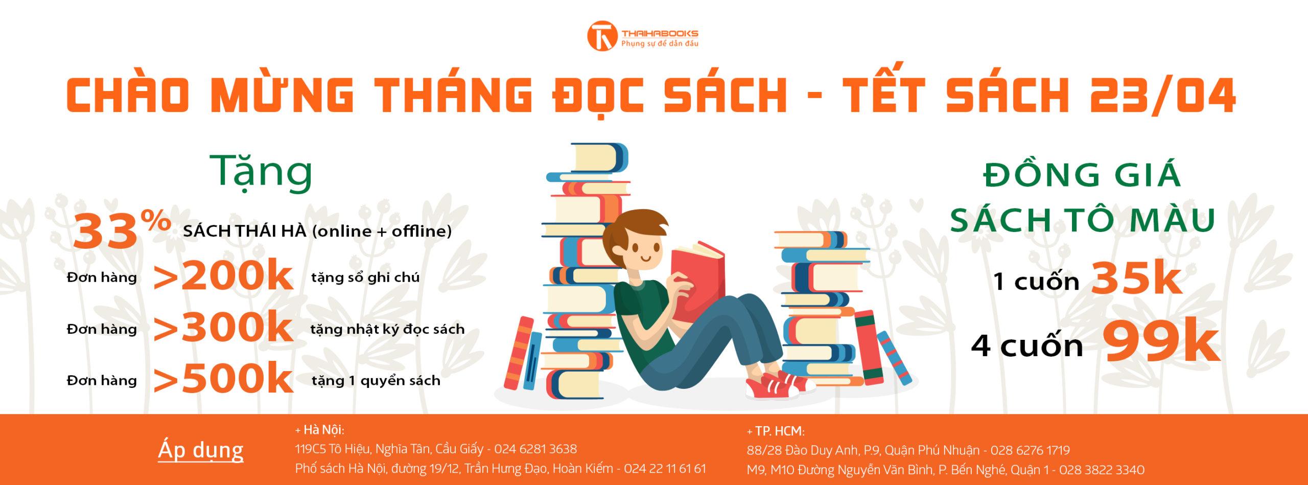Mừng ngày sách Việt Nam 2018 – Tặng chiết khấu khi mua sách tại hệ thống nhà sách Thái Hà Books