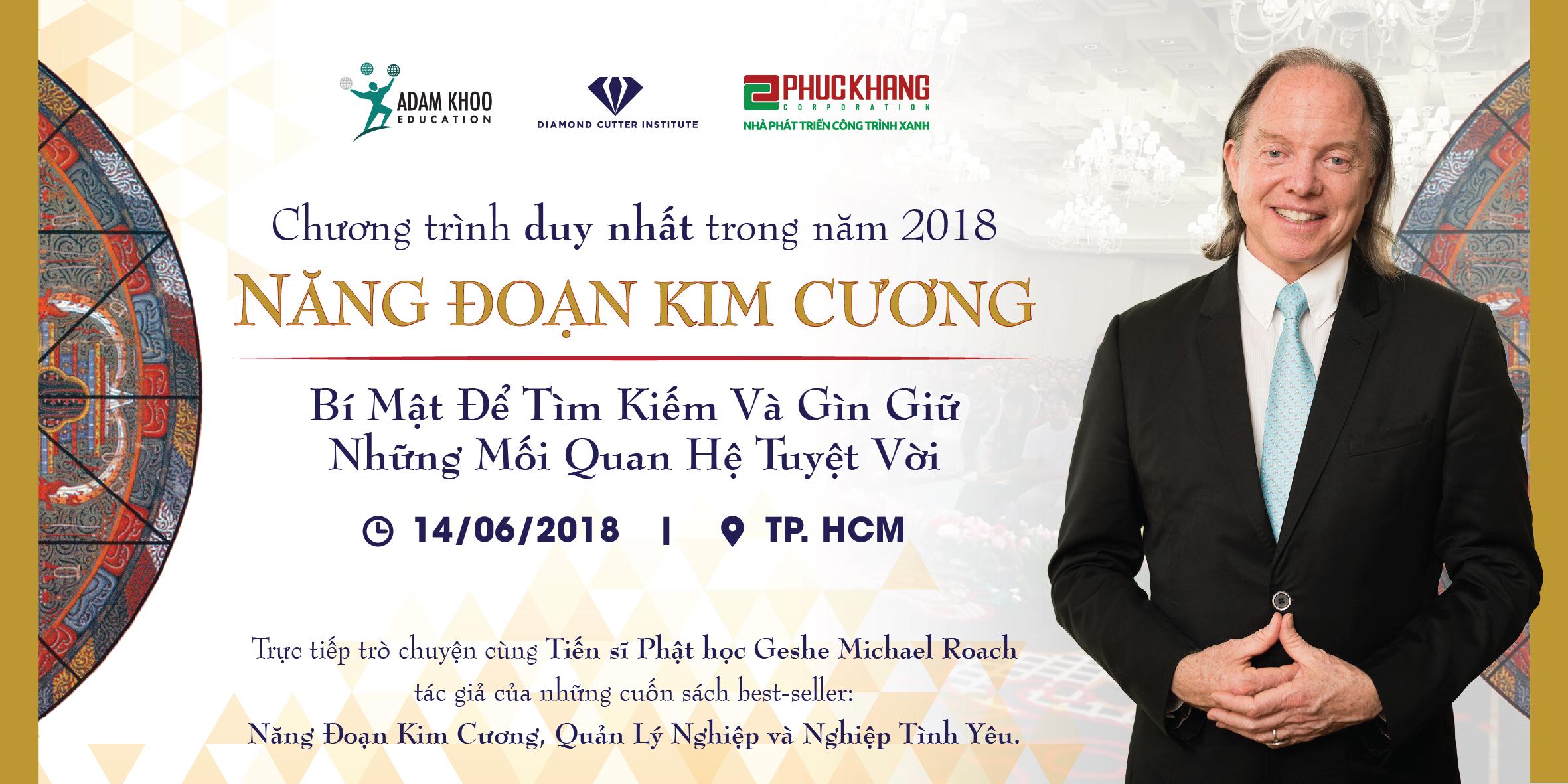 Gặp gỡ trực tiếp tác giả Geshe Michael Roach tại Hà Nội & Tp.HCM
