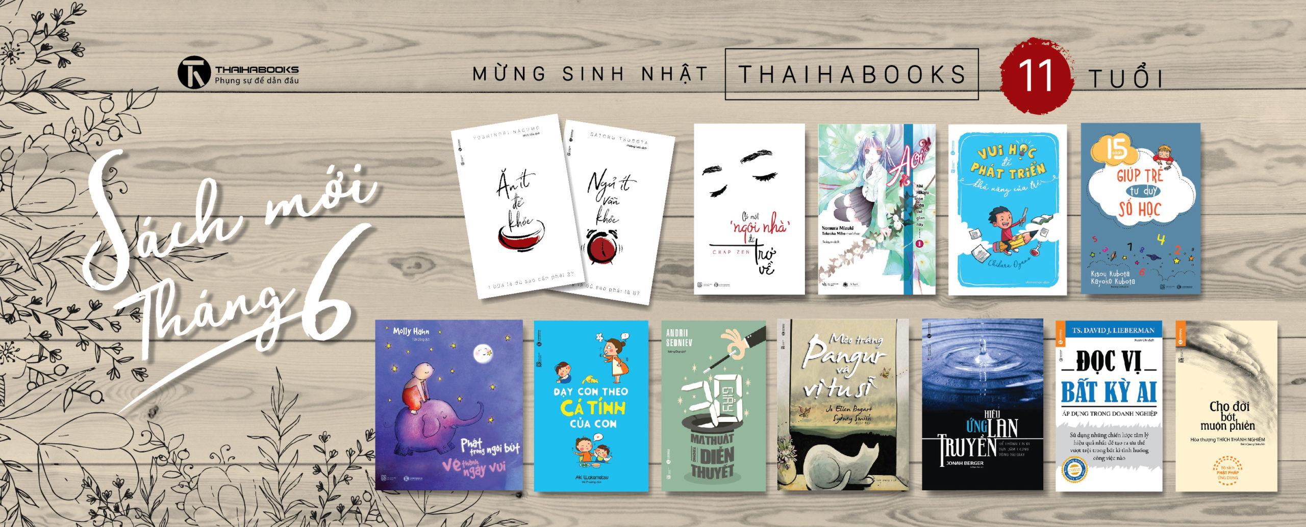 Sách mới tháng 6 – Đón sinh nhật Thái Hà