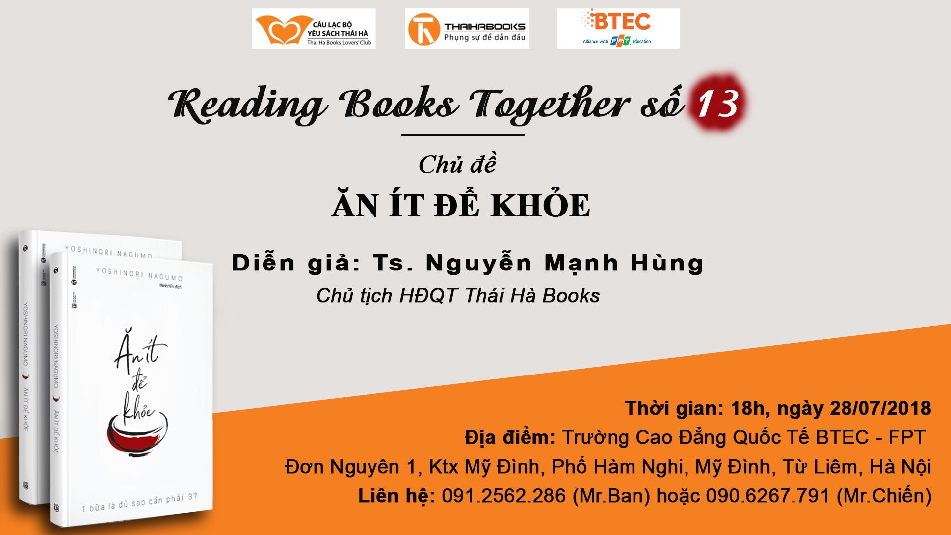 Reading Books Together số 13: Ăn ít để khỏe