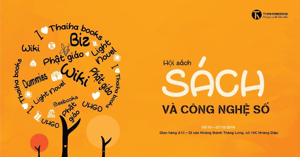 """03/10 – 07/10: Thái Hà Books tham gia Hội sách """"Sách và Công nghệ số"""""""