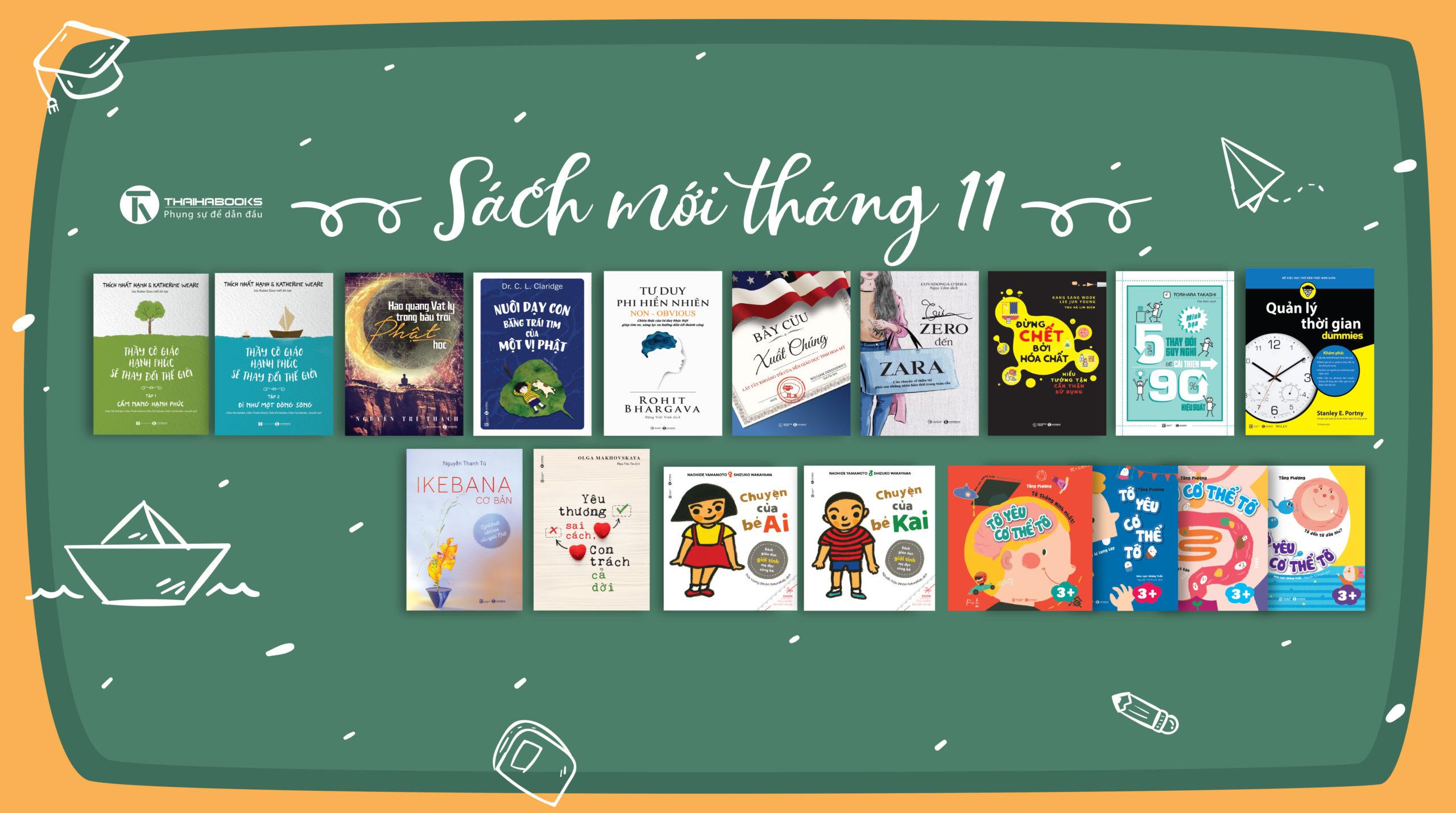 Thái Hà Books – Sách mới tháng 11/2018