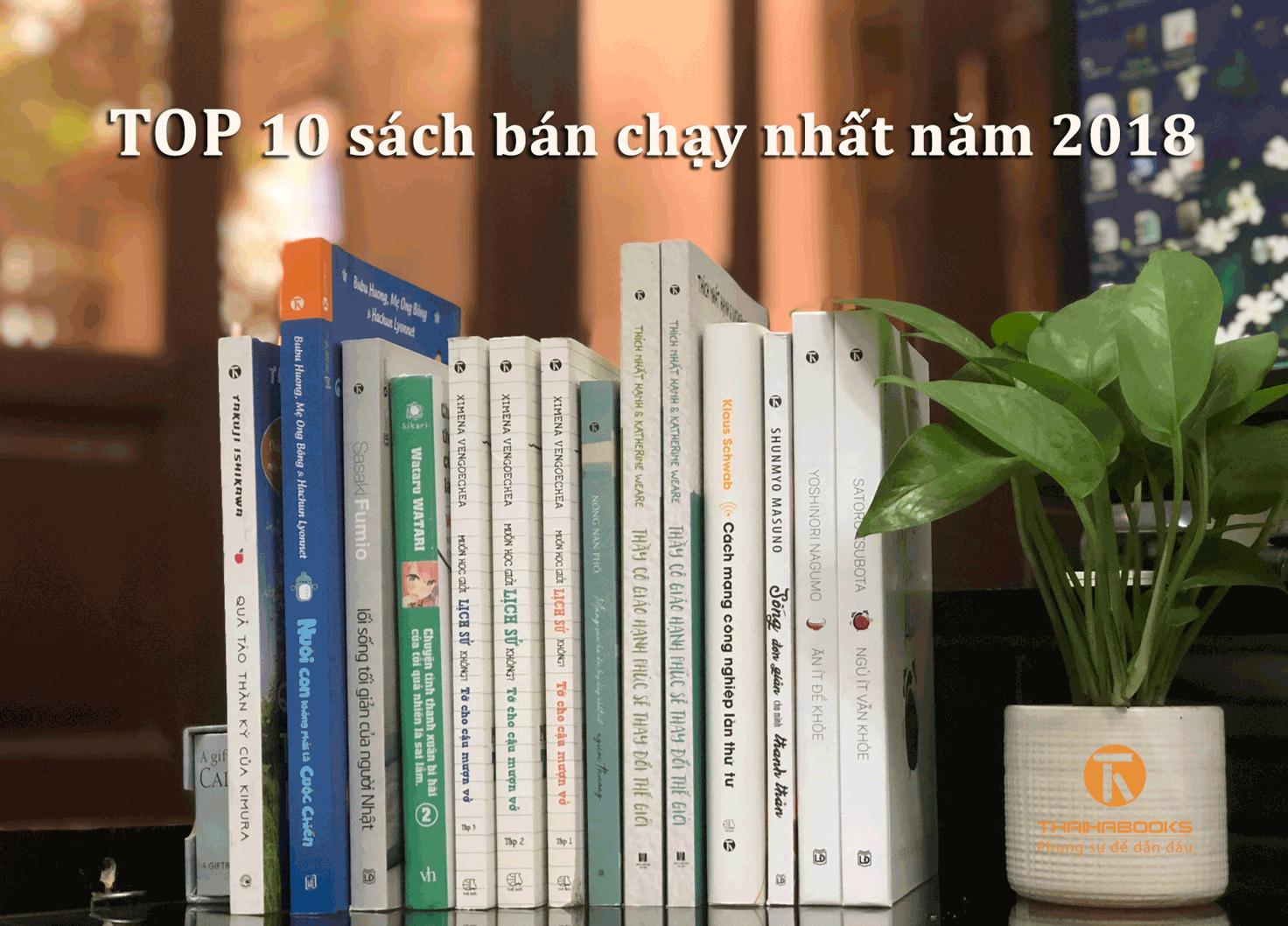 TOP 10 sách bán chạy năm 2018