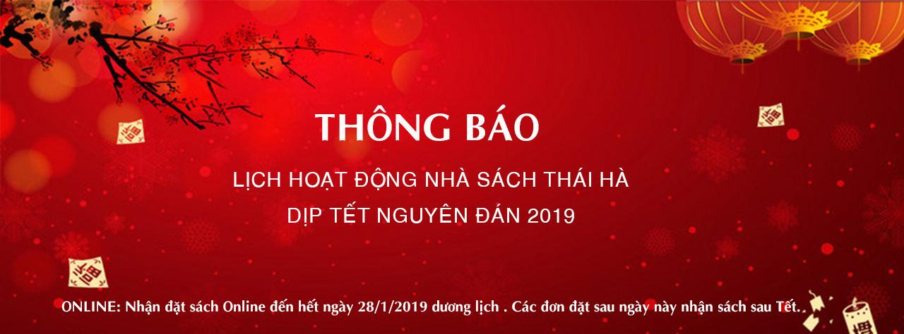 [ThaiHaBooks] Thông báo lịch hoạt động dịp Tết Nguyên Đán 2019