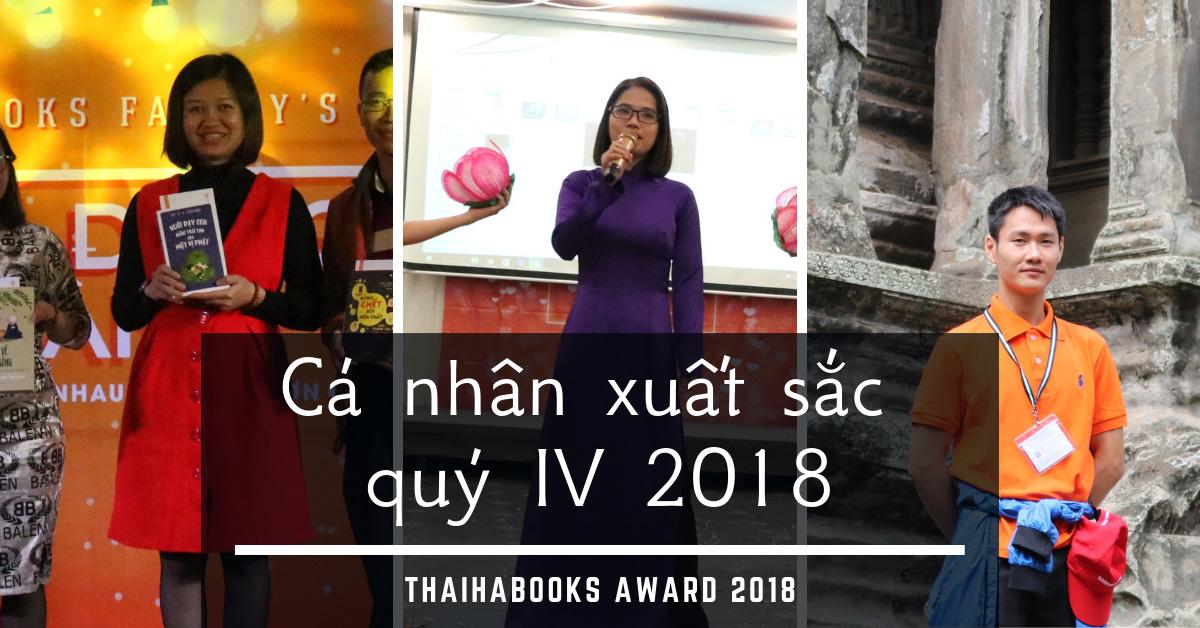 Giải thưởng cá nhân xuất sắc Quý IV/2018