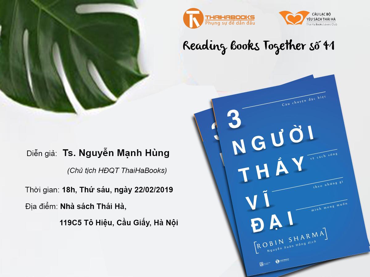 Reading Books Together số 41: Ba người Thầy vĩ đại