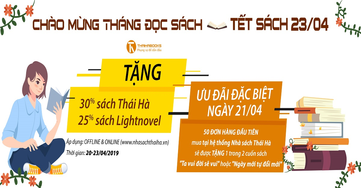 """Quà tặng từ Nhà sách Thái Hà chào mừng """"Ngày sách Việt Nam 21/4"""""""