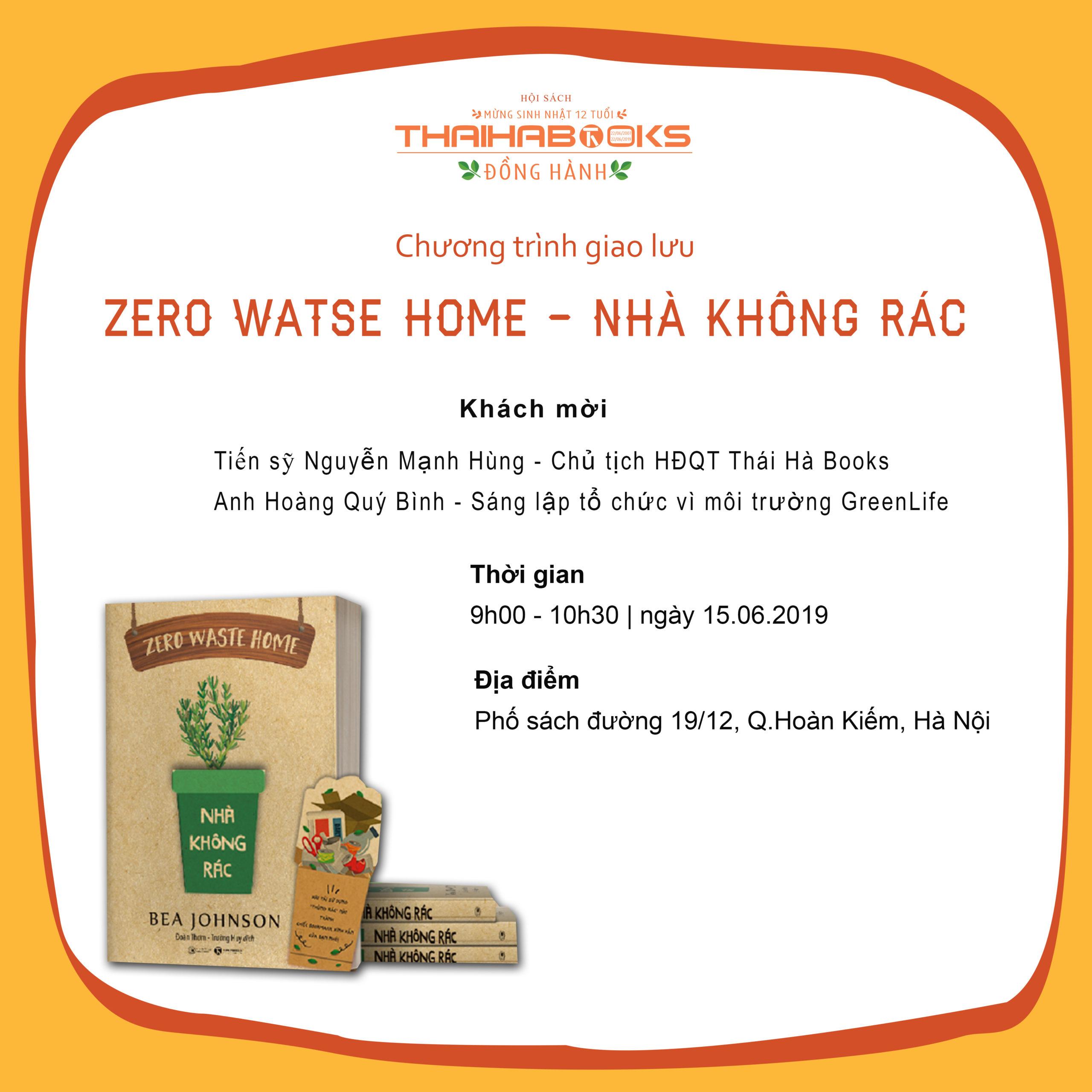 Reading Books Together số 48: Zero Waste Home – Nhà Không Rác