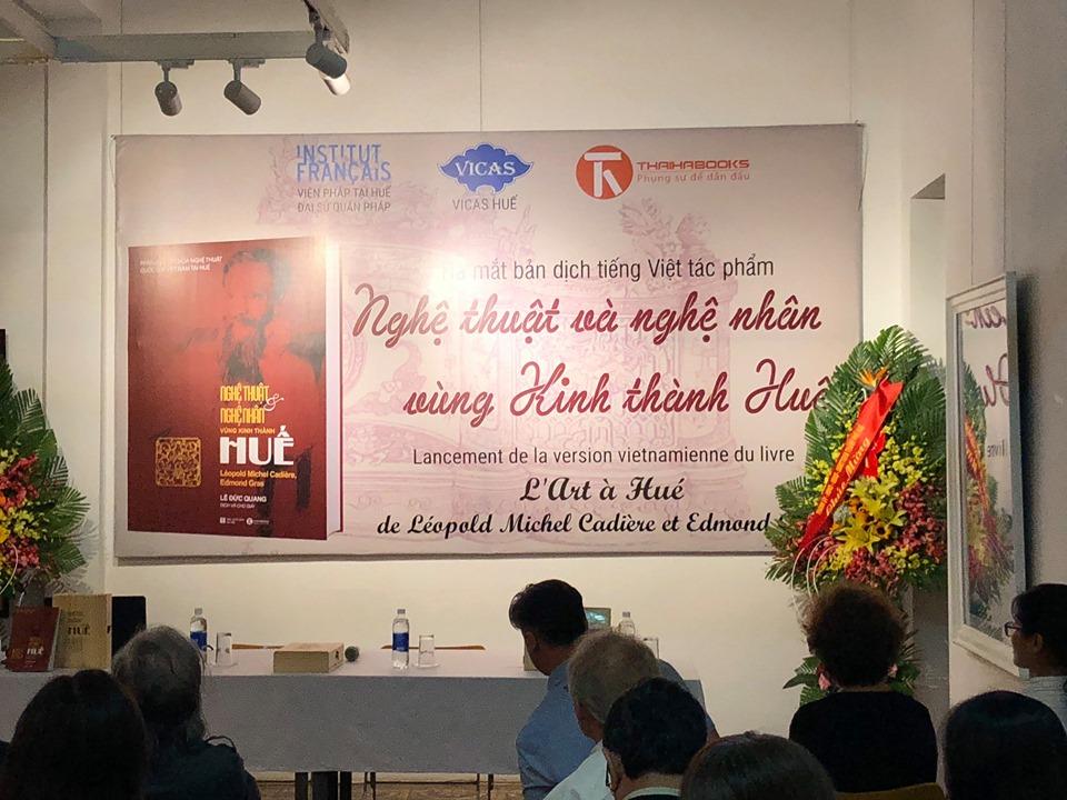 """Chương trình ra mắt bản dịch tiếng Việt tác phẩm """"Nghệ thuật và nghệ nhân vùng Kinh thành Huế"""" đã diễn ra thành công"""