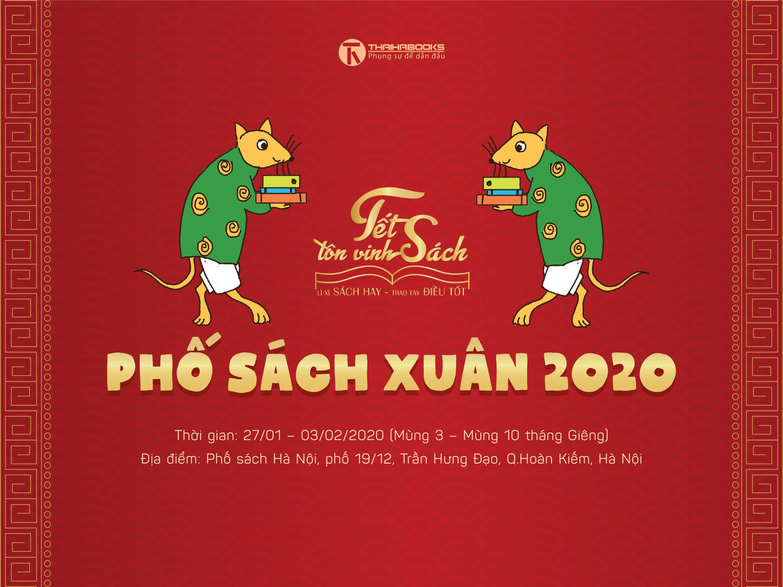 Mùng 3 Tết – mùng 10 tháng Giêng: Phố sách Xuân 2020 tại Hà Nội