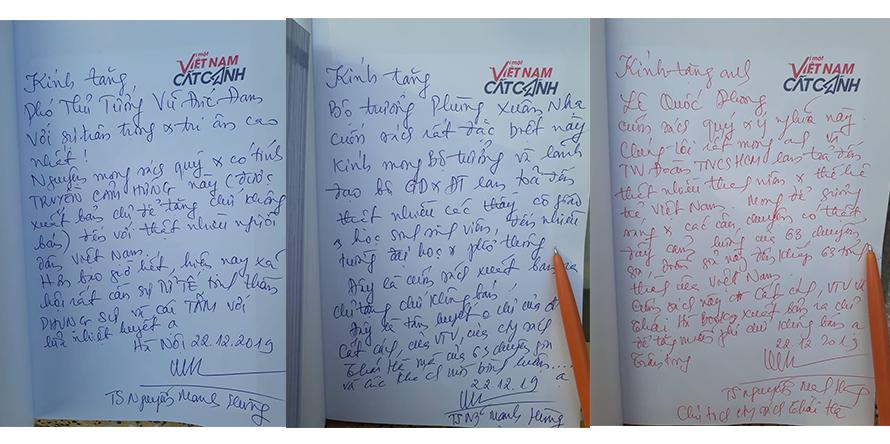 """Năm cuốn sách """"Vì  một Việt Nam cất cánh"""" đầu tiên đã được gửi tặng ngay sau khi xuất bản"""