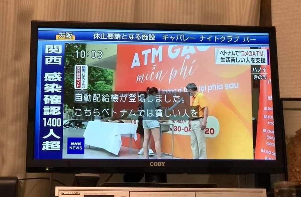 ATM gạo miễn phí xuất hiện trên NHK World Japan – Đài Quốc tế của Nhật Bản