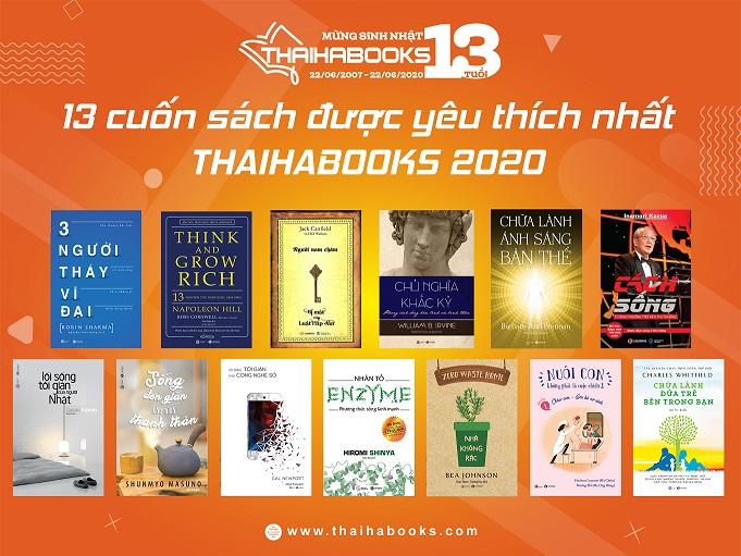 13 CUỐN SÁCH ĐƯỢC YÊU THÍCH NHẤT THÁI HÀ BOOKS 2020