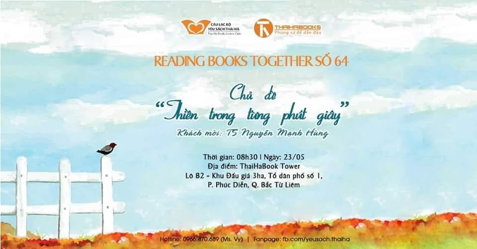 Reading Books Together số 64: Thiền trong từng phút giây