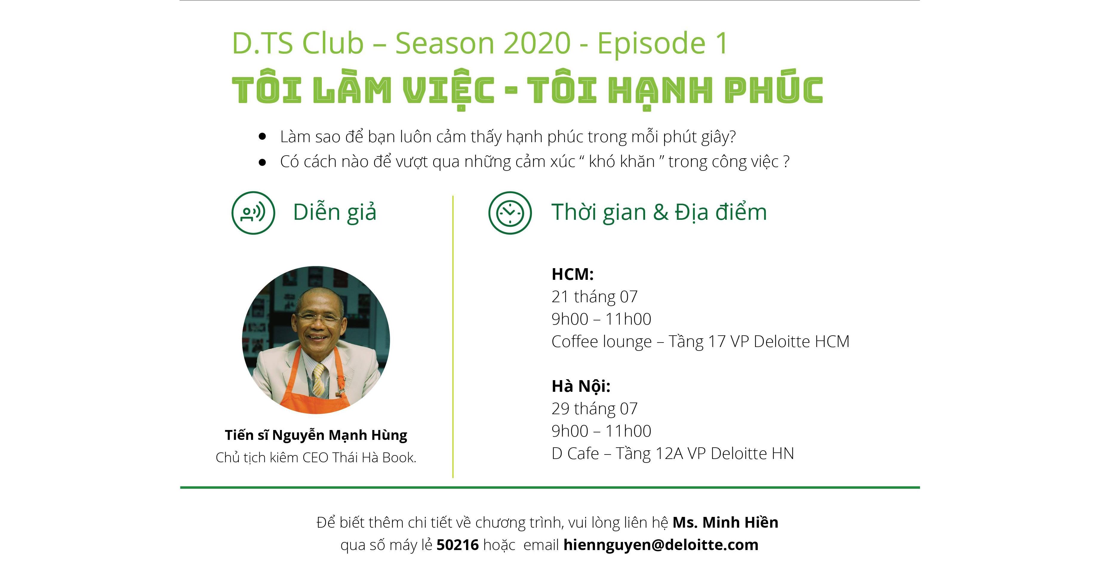 """TS. Nguyễn Mạnh Hùng là diễn giả chính của chương trình giao lưu """"Tôi làm việc – Tôi hạnh phúc"""""""