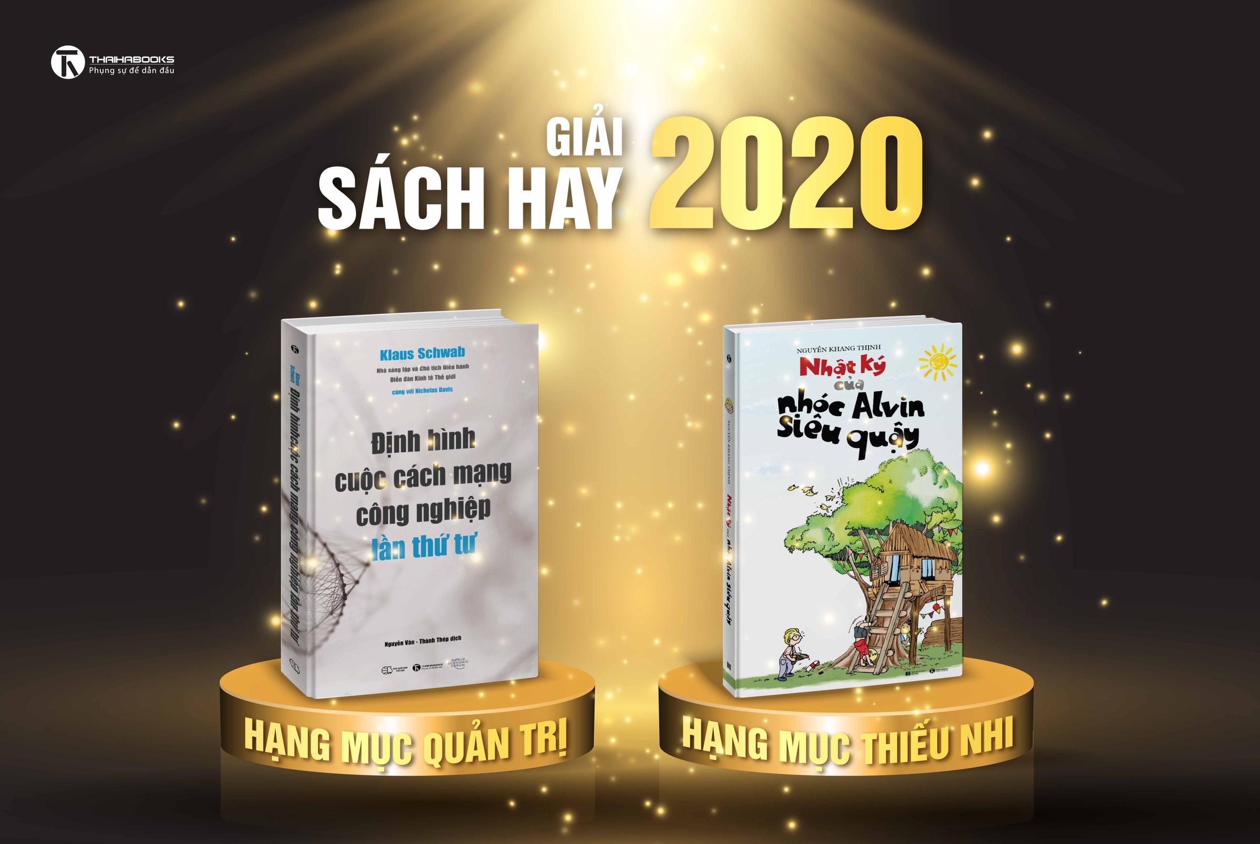 Giải Sách Hay 2020 – ThaiHaBooks nhận 2 giải thưởng hạng mục sách Quản trị và sách Thiếu nhi