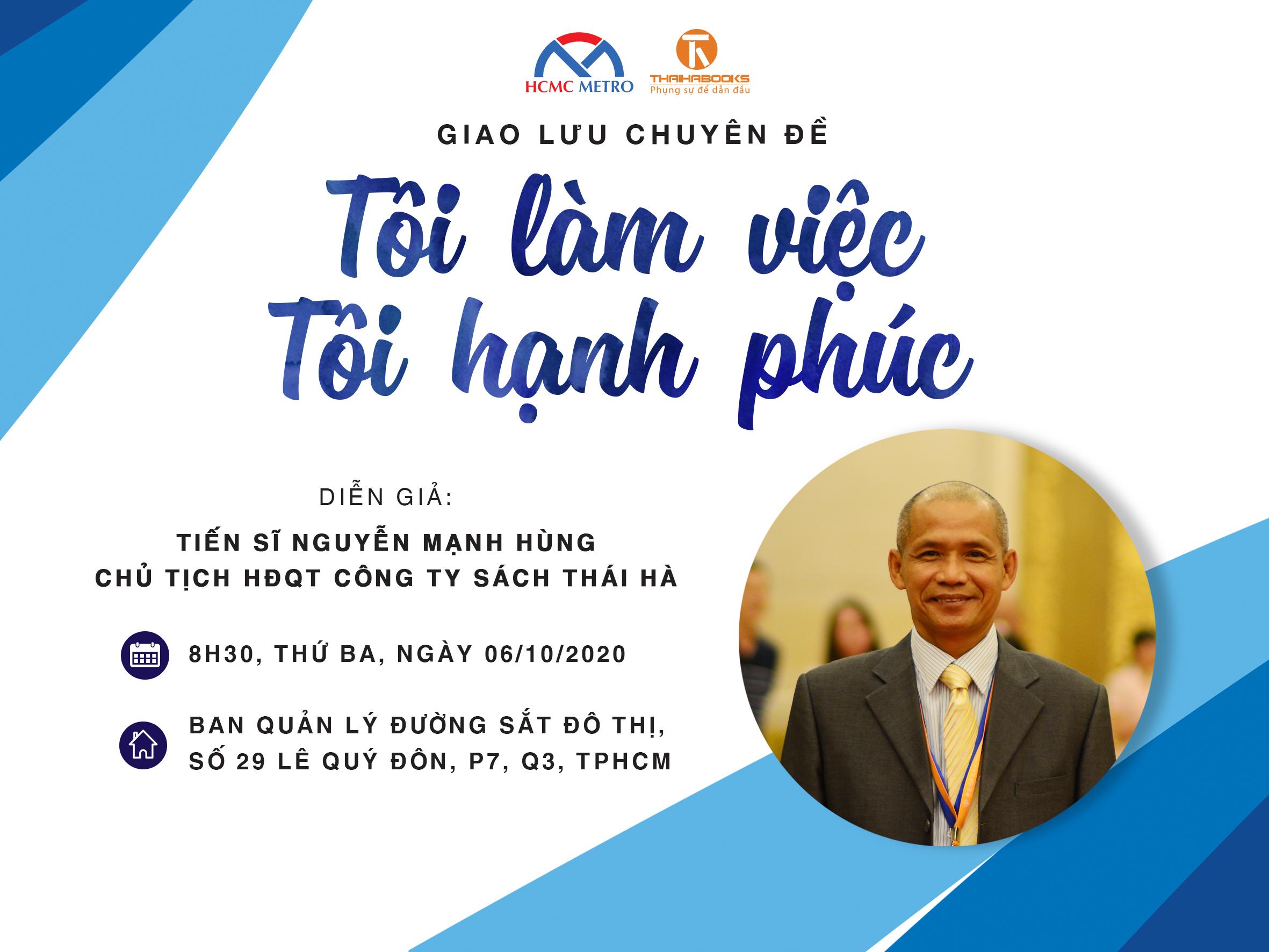 """TS. Nguyễn Mạnh Hùng cùng chuyên mục """"Tôi làm việc – Tôi hạnh phúc"""""""