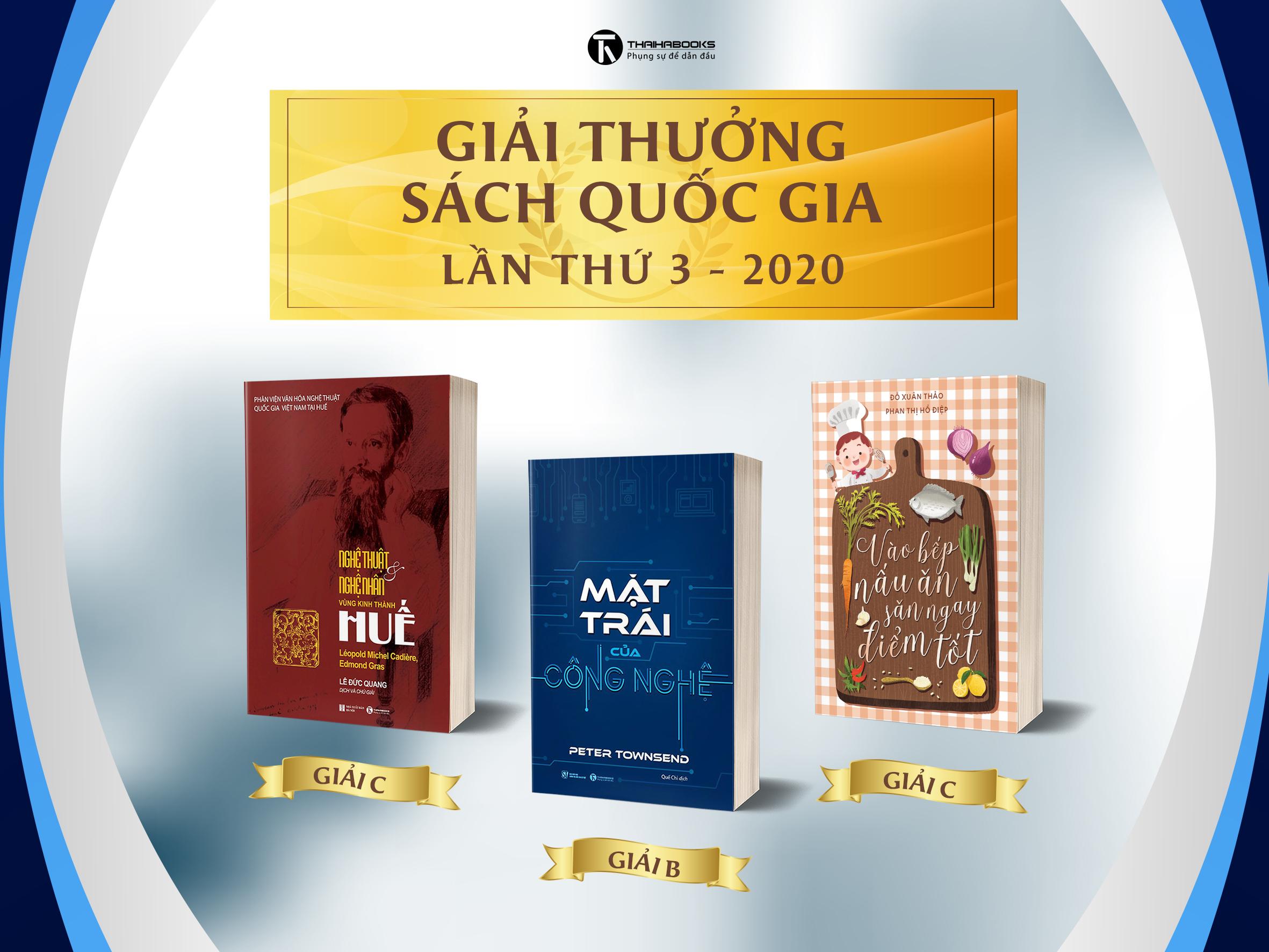 Thái Hà Books đạt ba giải Sách Quốc gia 2020
