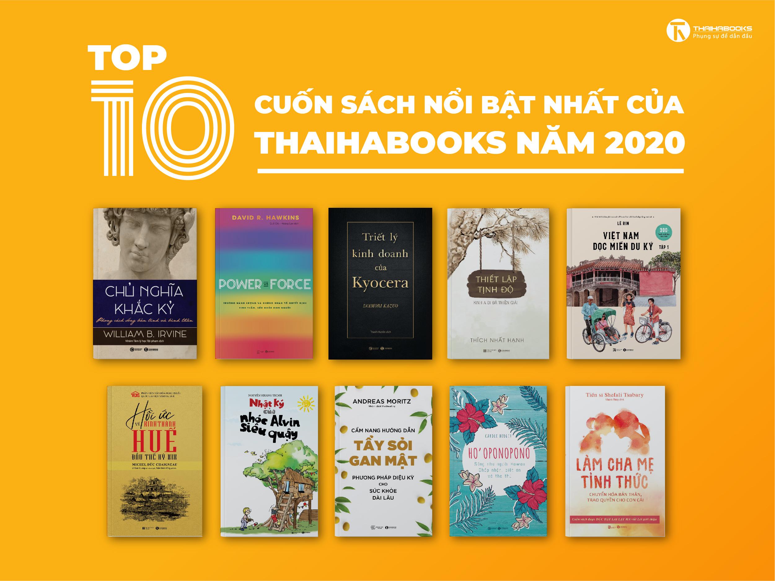 10 CUỐN SÁCH TIÊU BIỂU XUẤT BẢN NĂM 2020 CỦA THÁI HÀ BOOKS