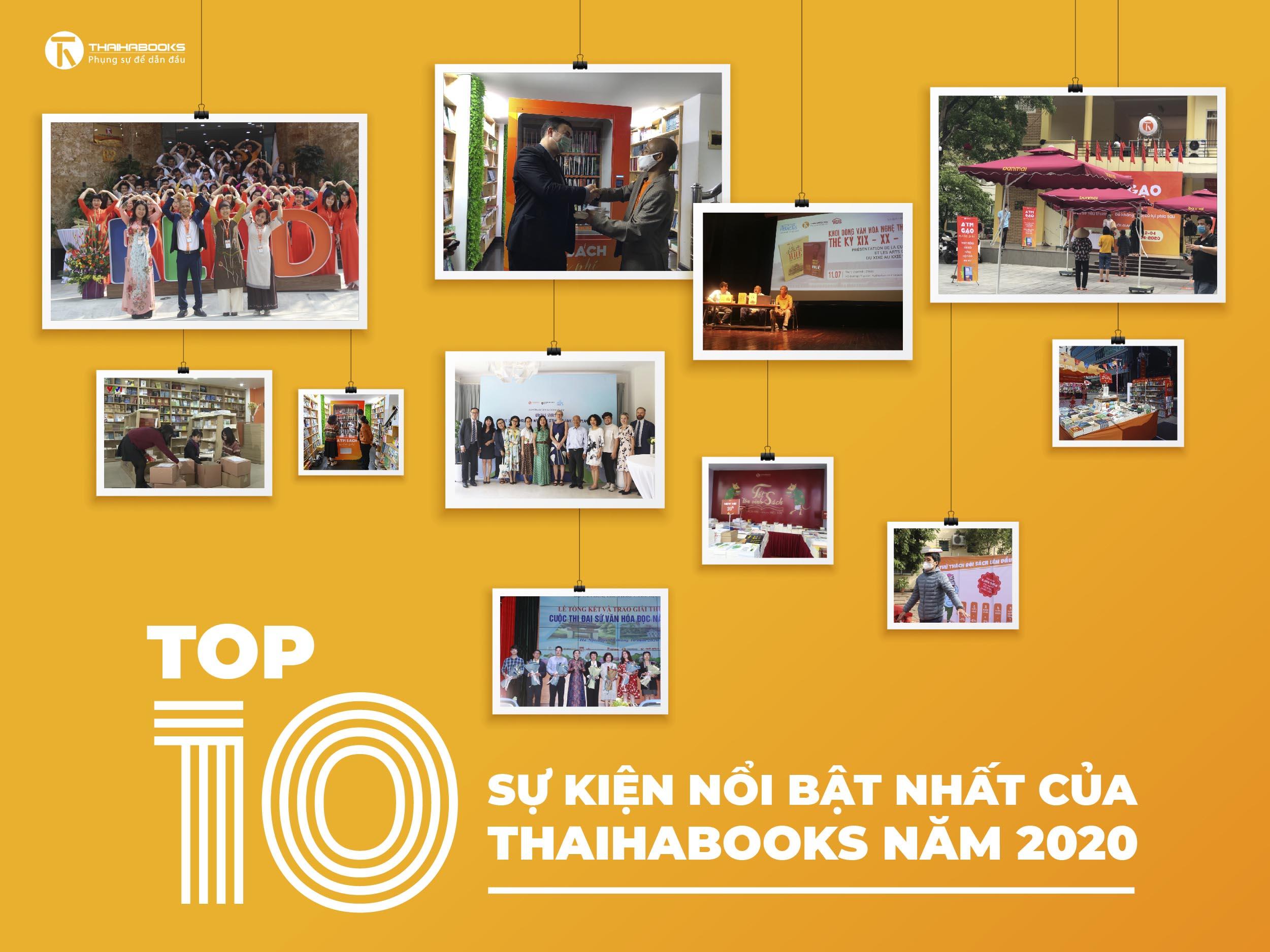 Top 10 sự kiện nổi bật nhất của Thái Hà Books năm 2020