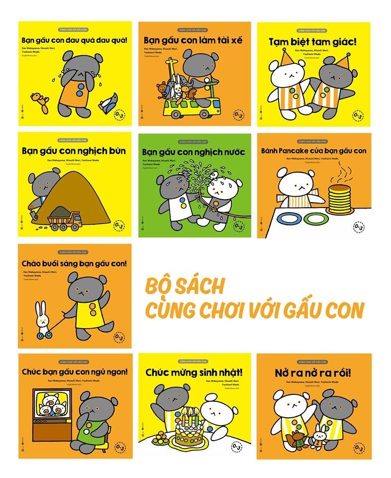 Bộ sách Cùng chơi với Gấu con
