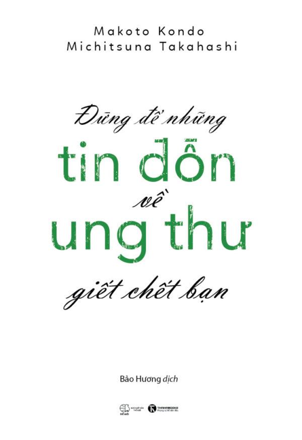 Dung De Nhung Tin Don Ve Ung Thu Giet Chet Ban Coverfull 2