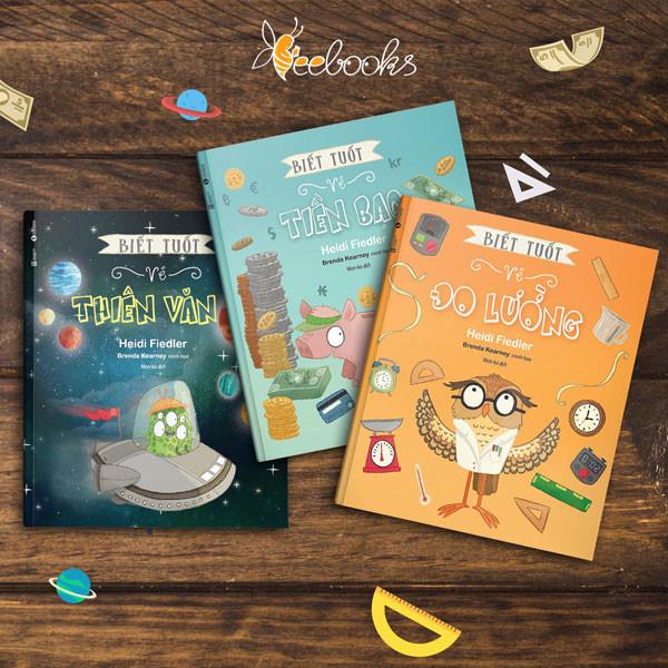 Biết tuốt – Bộ sách giúp trẻ khám phá về Thiên Văn, Tiền Bạc và Đo lường.