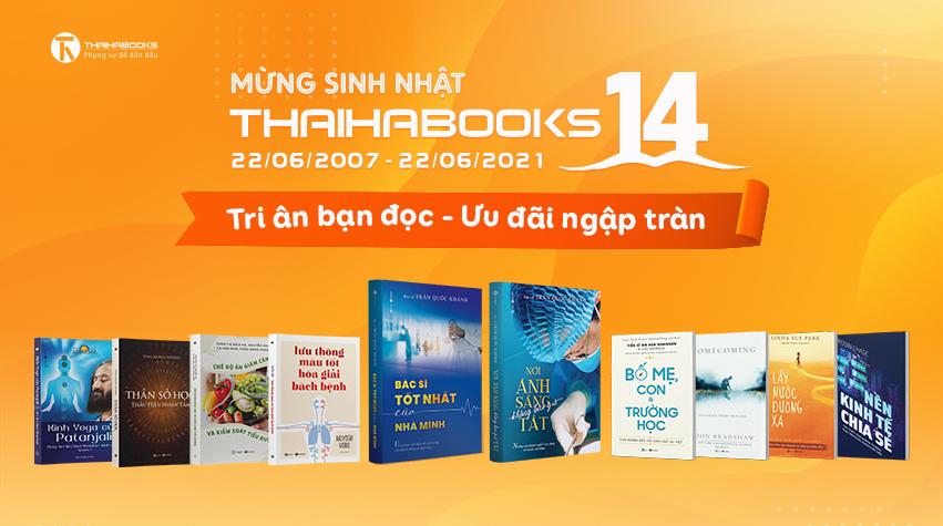 CHÚC MỪNG SINH NHẬT THAIHABOOKS 14 TUỔI
