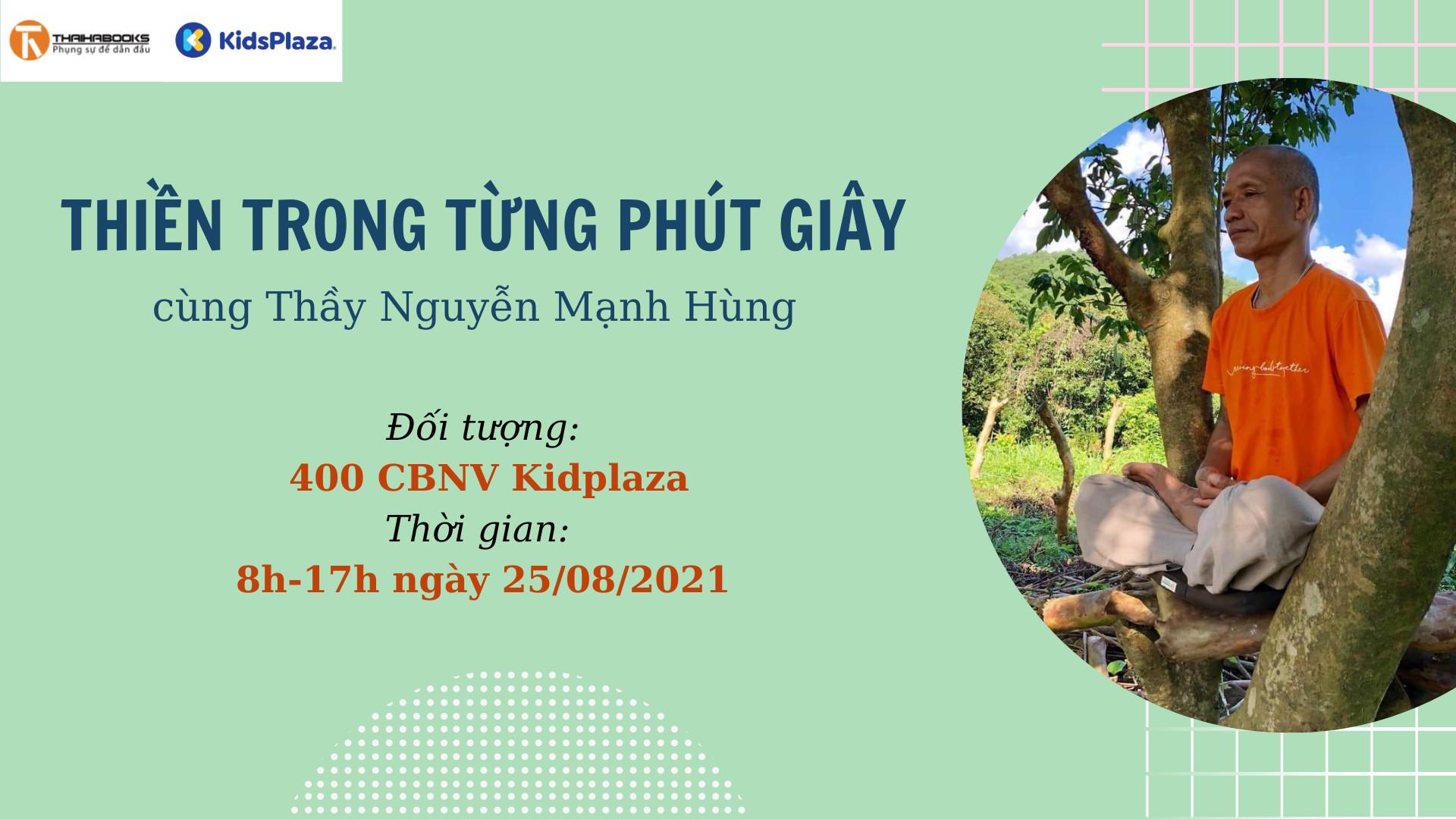 Thiền trong từng phút giây cùng TS Nguyễn Mạnh Hùng