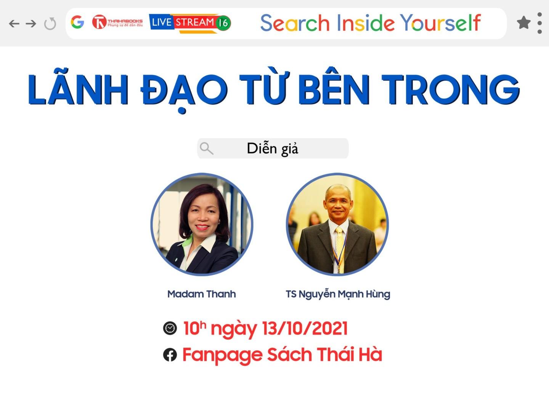 """10h, ngày 13/10: Livestream """"Search Inside Yourself – Lãnh đạo từ bên trong"""""""